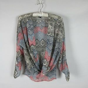 About A Girl Womens Top Blouse Sheer Size XS
